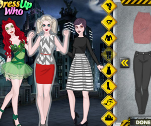 Games home dress up games advertisement harley quinn and friends