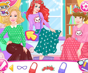 Dress Up Games Ariel and Elsa Double Date  Game For Kids