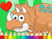 Cute Dino Coloring