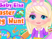 Baby Elsa Easter Egg Hunt