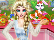 Elsa Helping Easter Bunny