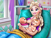Elsa Mommy Twins Birth