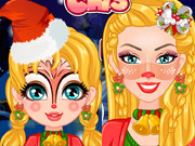Barbie Christmas Face Painting