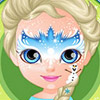BABY BARBIE FROZEN FACE PAINTING