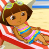 BABY DORA AT BEACH