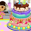BABY DORA MAKE CAKE
