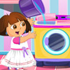 BABY DORA WASHING CLOTHES DAY