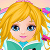 BARBIE FROZEN HAIR SALON GAME