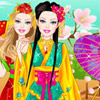 BARBIE JAPANESE PRINCESS DRESS UP GAME