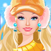 BARBIE WINTER BEAUTIFUL DRESS UP