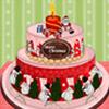 COLORFUL CHRISTMAS CAKE DECOR