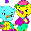 COLORING JOLLY PIGS GAME