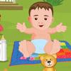 CUTE BABY BATH IN THE GARDEN