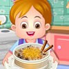 CUTE BABY COOK RICE PUDDING GAME