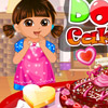DORA MAKE CAKE LOVE GAME