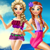 ELSA AND ANNA SUMMER BREAK GAME