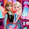 ELSA AND ANNA PROM DRESS UP
