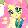 FLUTTERSHY SCHOOL SPIRIT STYLE DRESS UP