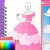 FASHION STUDIO PRINCESS DRESS DESIGN