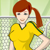 GIRL FOOTBALLER DRESS UP