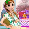 PREGNANT ANNA WASHING CLOTHES