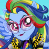 RAINBOW DASH MOTOCROSS STYLE DRESS UP
