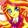 SUNSET SHIMMER SCHOOL SPIRIT STYLE DRESS UP