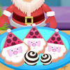 SANTA COOKIES WITH ICING