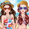SUMMER FRIENDS ON THE BEACH