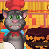 TALKING TOM COOKING HALLOWEEN CAKE